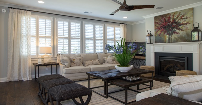 Interior Shutters in Fort Myers Living Room