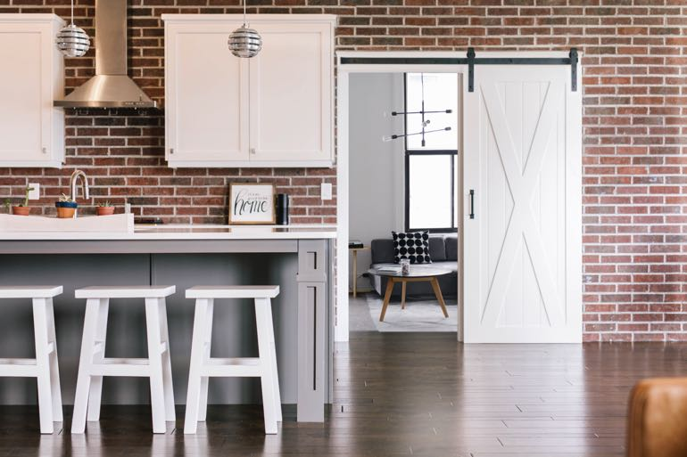 Fort Myers modern kitchen barn door