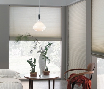 honeycomb shades in Fort Myers home