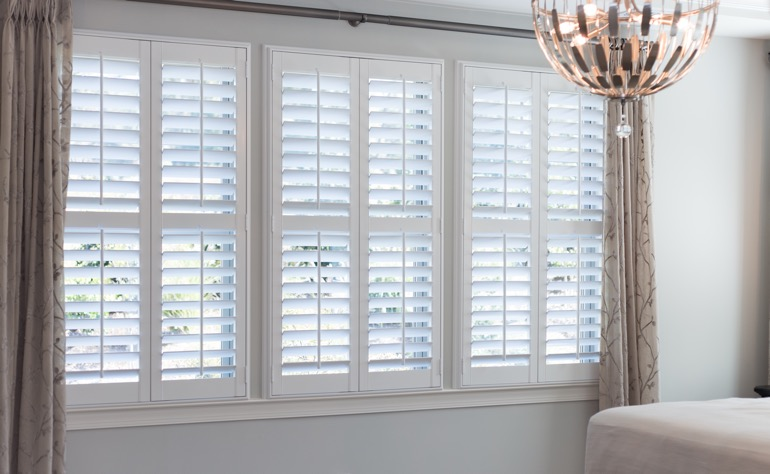 Fort Myers plantation shutters guest room
