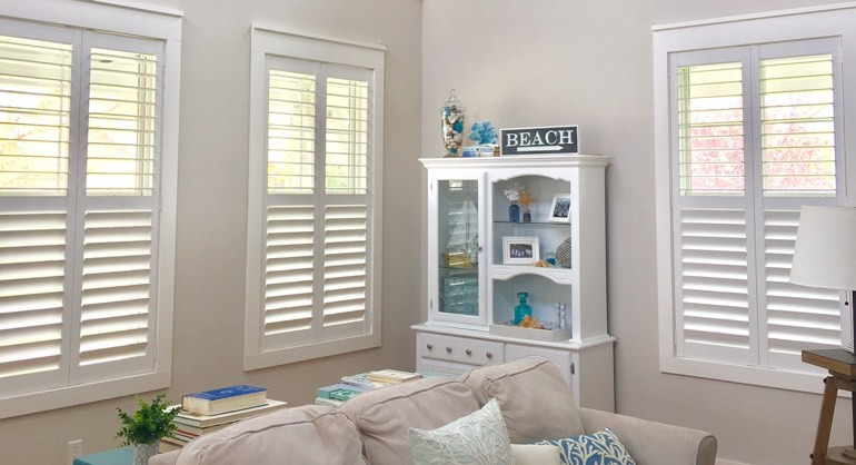 Fort Myers Florida shutters in living room