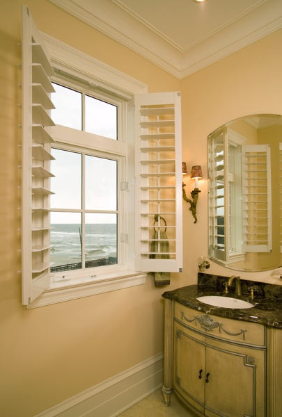 Faux Wood shutters in Fort Myers beach home