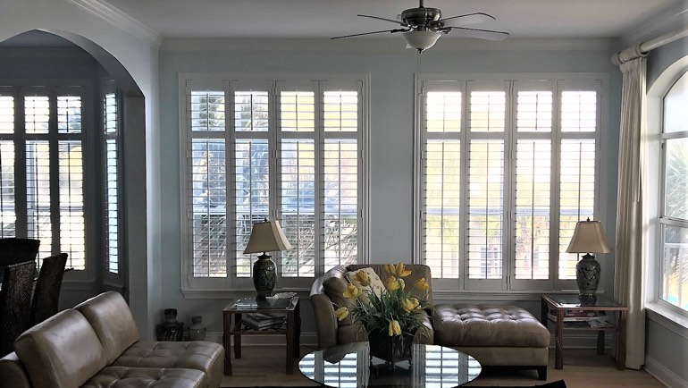 Fort Myers family room shutters
