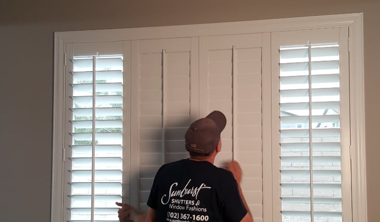 Installation of plantation shutters in Fort Myers