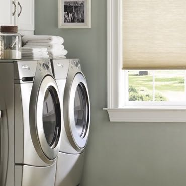 Fort Myers laundry room pull-down shades.