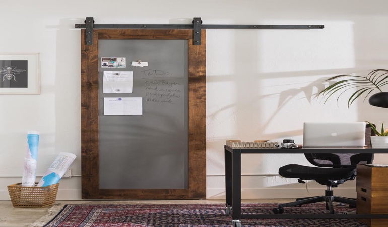 Fort Myers home office barn door