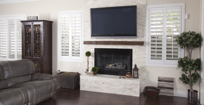 polywood shutters in Fort Myers family room