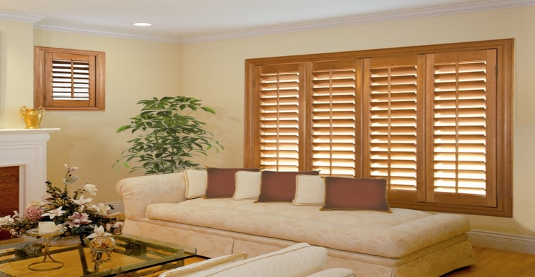 wood shutters Fort Myers sunroom