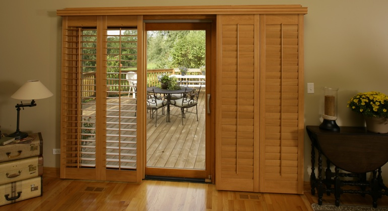 Fort Myers wood shutter sliding door