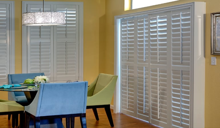 Patio Doors with Plantation Shutters in Fort Myers