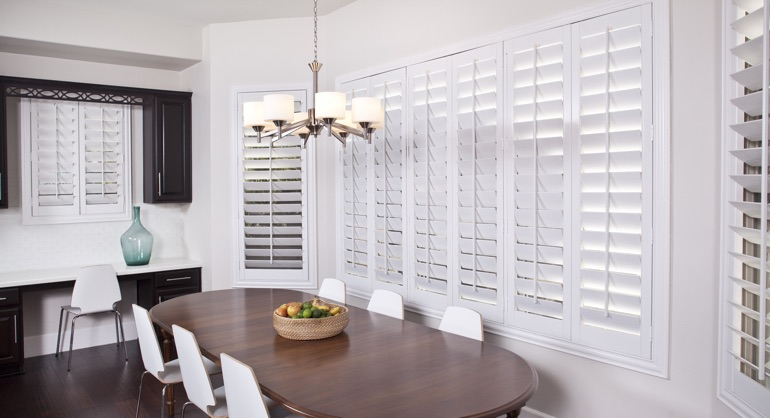 plantation shutters in Fort Myers dining room