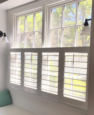 Fort Myers faux wood cafe shutters