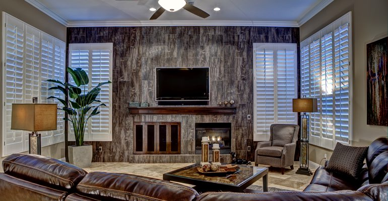 Fort Myers living room with shutters