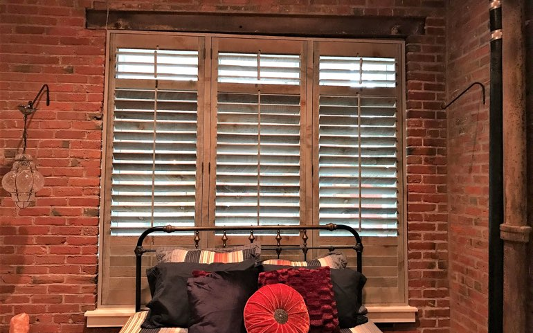 reclaimed wood shutters in Fort Myers apartment