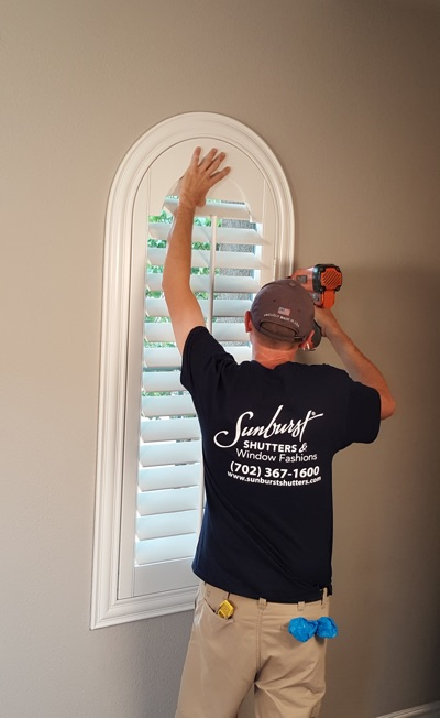 Shutter install in Fort Myers bedroom