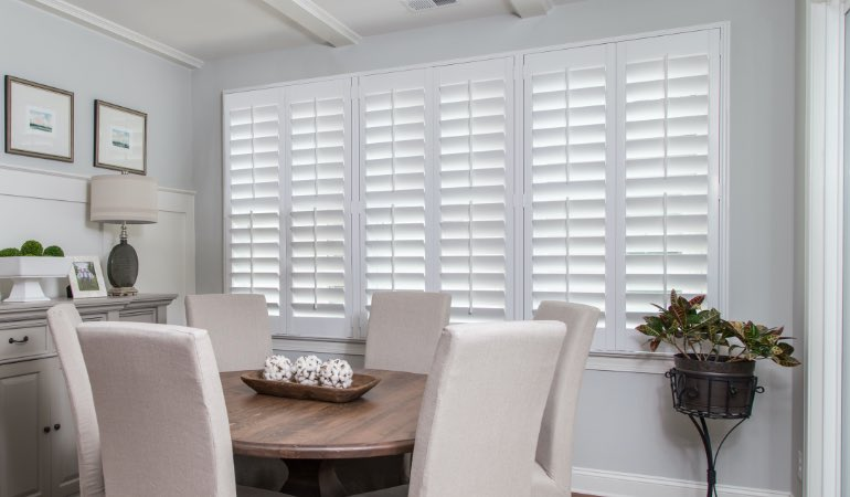 shutters in Fort Myers living room