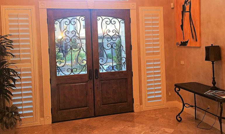 Fort Myers foyer door with shutters