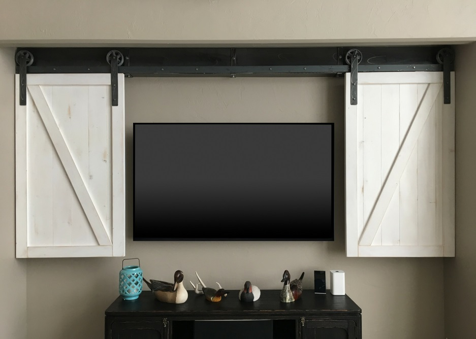 Fort Myers tv shutter barn door