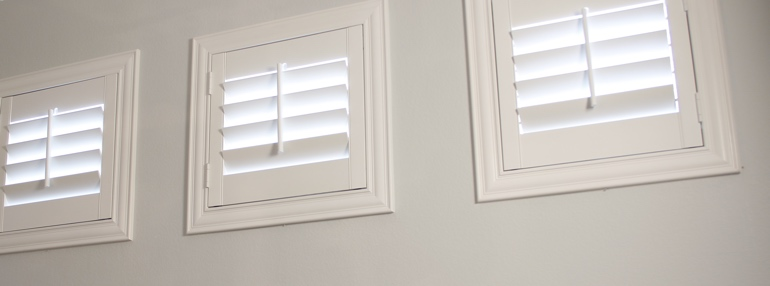 Small Windows in a Fort Myers Garage with Polywood Shutters