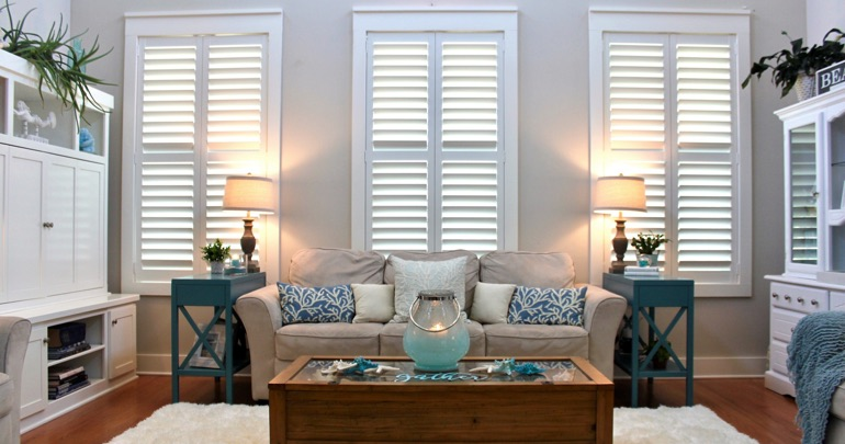 Fort Myers lounge interior shutters