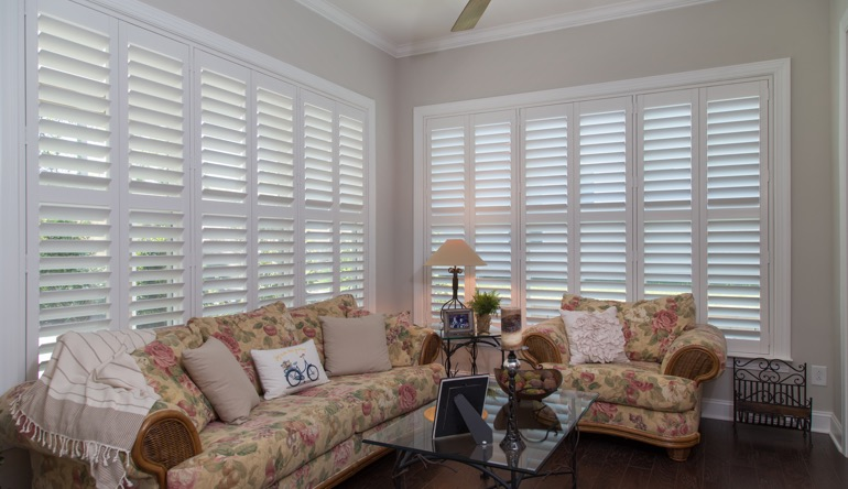 Fort Myers sunroom indoor shutters