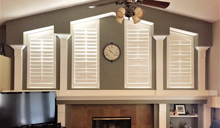 Polywood Shutters in Family Room in Fort Myers