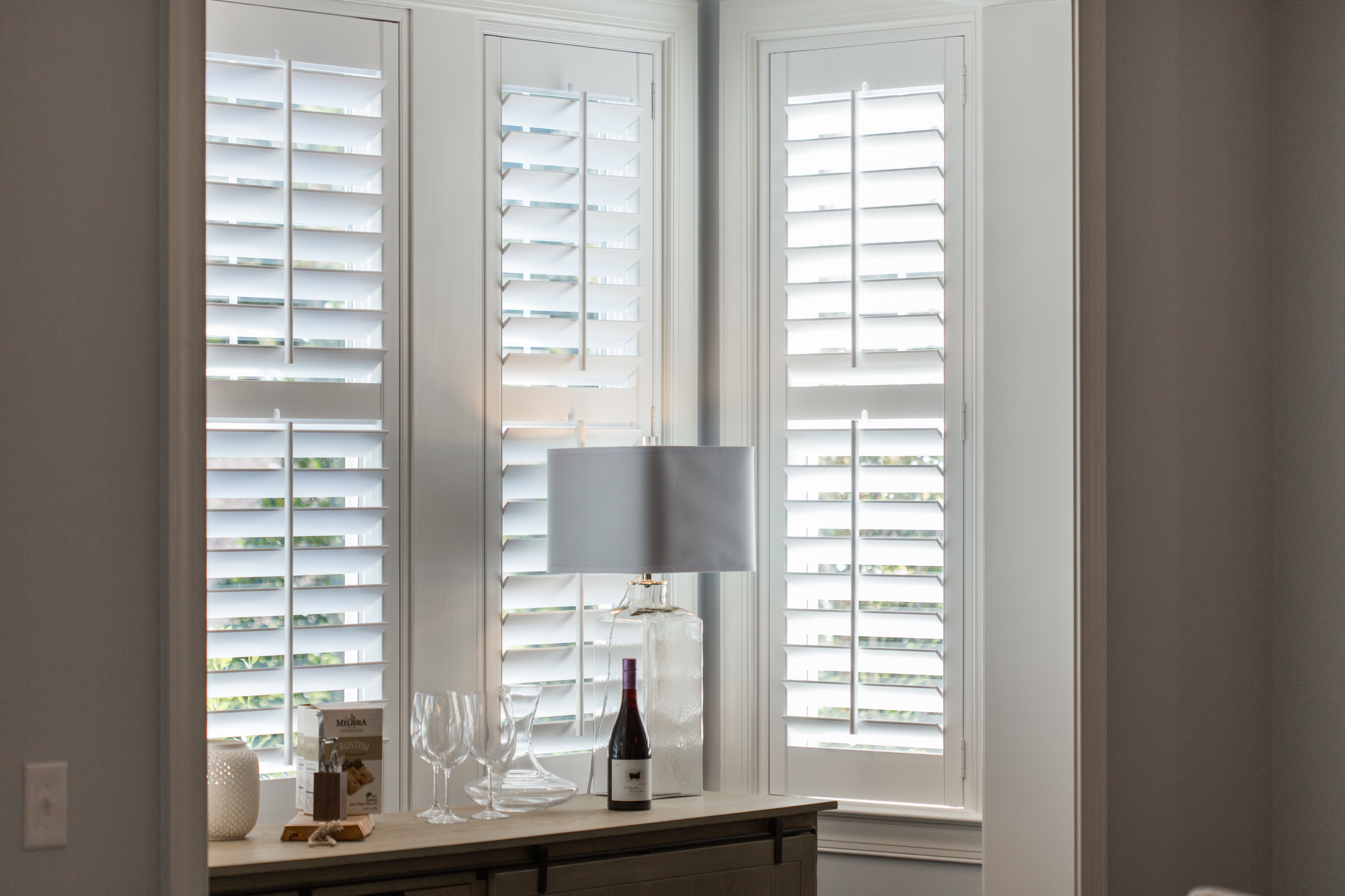 Polywood shutters in Fort Myers alcove.