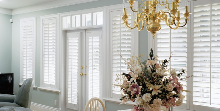 Fort Myers sunroom polywood shutters
