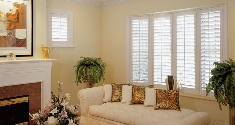 Fort Myers living room shutters