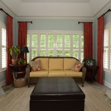 Fort Myers sunroom interior shutters.