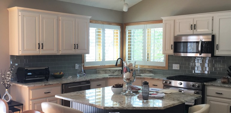 Fort Myers kitchen with shutters and appliances
