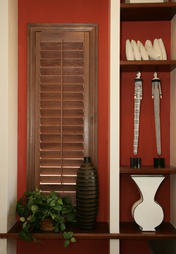 Fort Myers wood shutter shelving