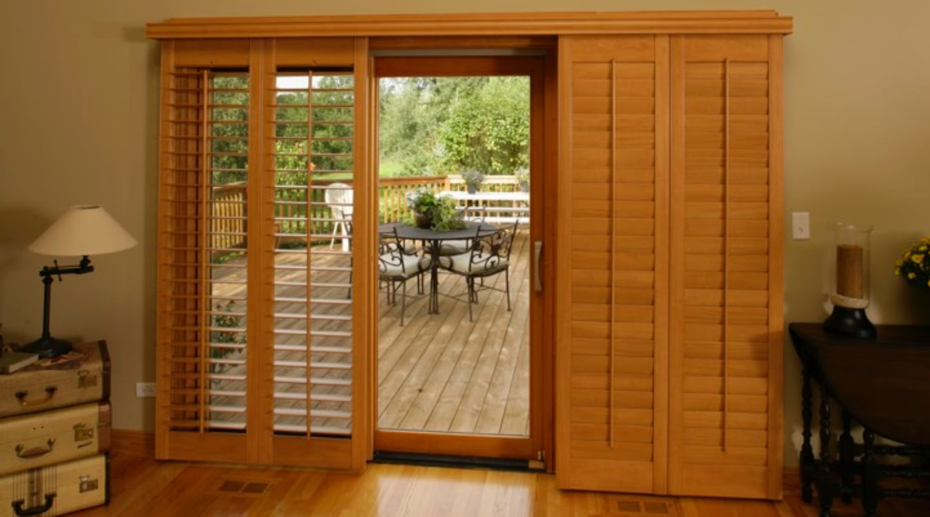 Sliding Glass Door Shutter In Fort Myers