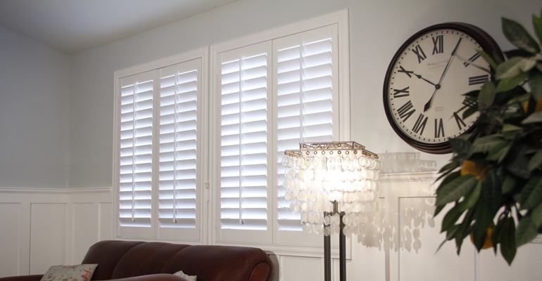 Fort Myers living room interior shutters