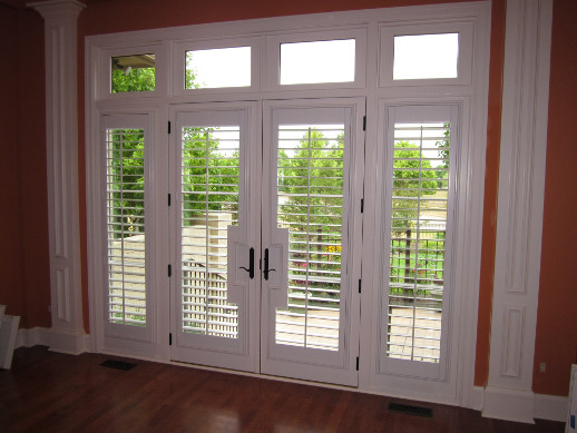 Fort Myers patio door with sidelight shutters