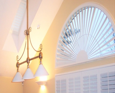 Fort Myers arched eyebrow window with custom shutter