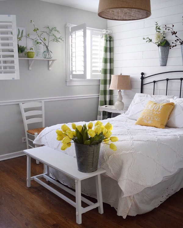 Fort Myers cottage bedroom shutters