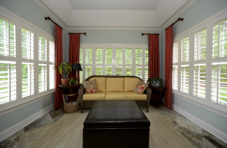 Plantation Shutters In A Fort Myers Sunroom